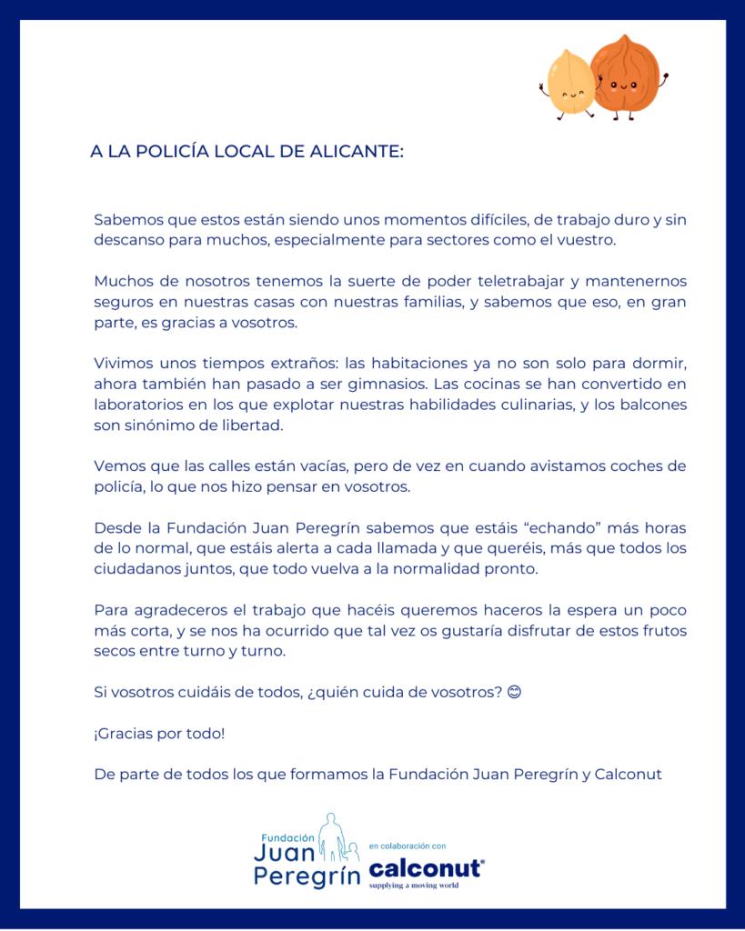 policia-local-de-alicante-coronavirus-donacion-cuerpos-de-seguridad-españa