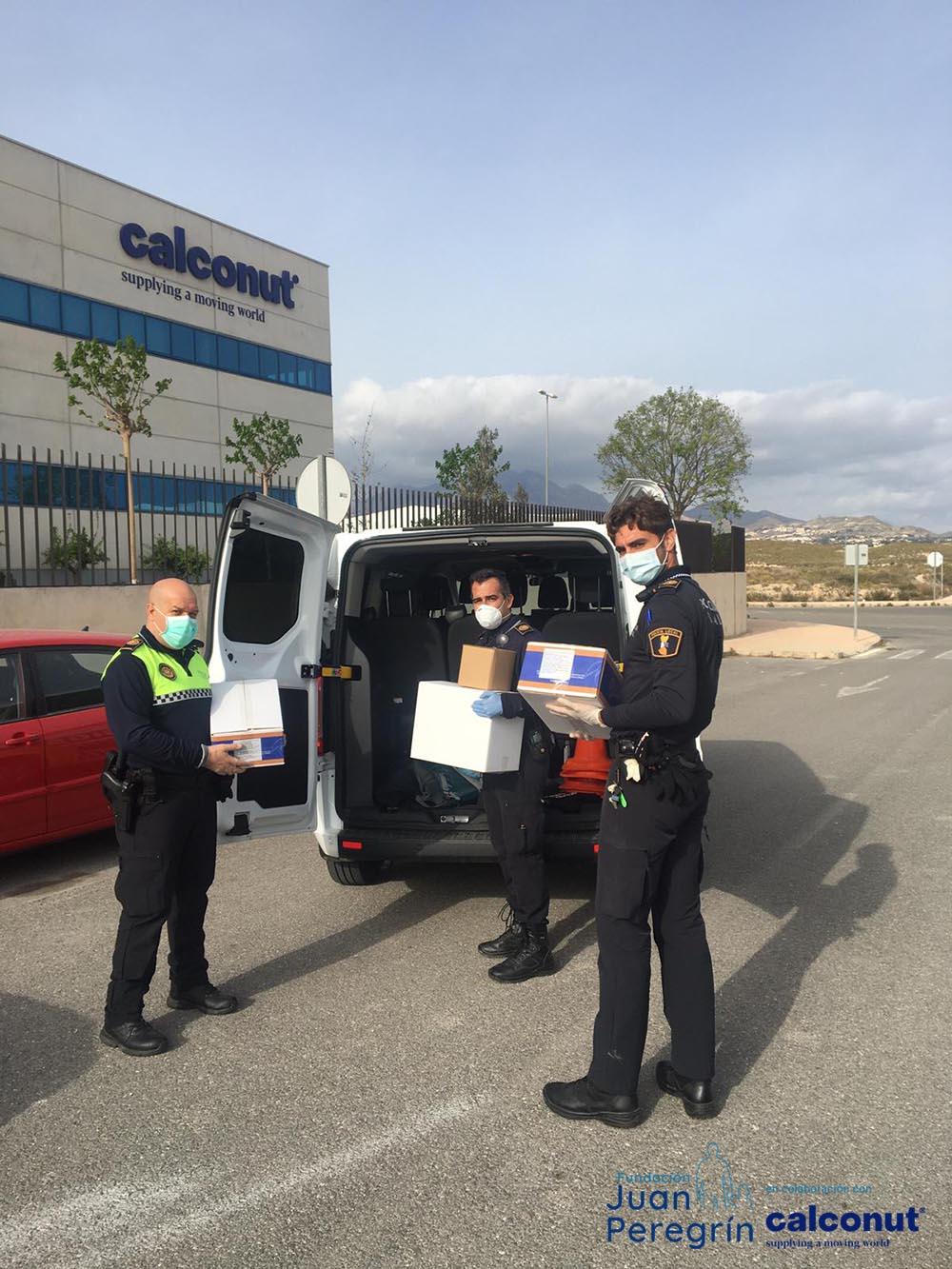 policia-local-de-alicante-coronavirus-donacion-cuerpos-de-seguridad-españa-covid19